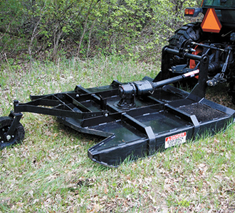 3 point brush mower for compact tractor