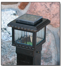 "2.5"" Polaris Solar Post Cap Light"