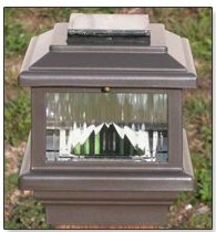"3.5"" Polaris Solar Post Cap Light"