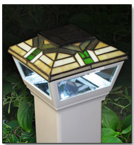 "4"" Waypoint Mission Style Top Solar Post Cap Light"