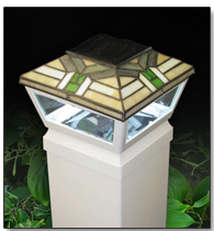 "5"" Waypoint Mission Style Top Solar Post Cap Light"