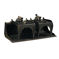 Triple S Power Grapple Bucket Skid Steer Attachment