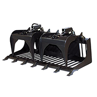 Triple S Power Grapple Rod Bucket Skid Steer Attachment