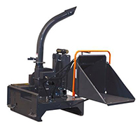 Triple S Power Brush and Tree Chipper Skid Steer Attachment