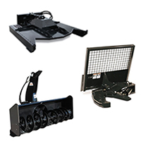 "Tri Combo Deal! 60"" Mower, Tree Shear and 73"" Snowblower Skid Steer Attachments"